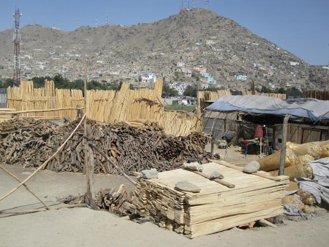 Byggmarknad i Kabul, okt 2009