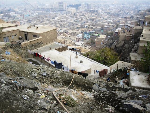 På vägen ner från Kabuls statsmur 28-nov-2009