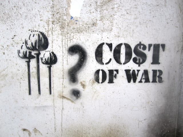 CO$T OF WAR. Street art